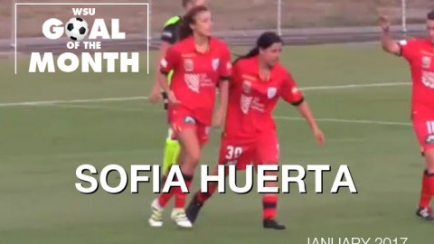 Sofia Huerta wins WSU Goal of the Month – January 2017