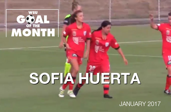 Sofia Huerta wins WSU Goal of the Month - January 2017