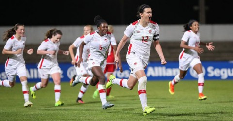 Match report: Canada defeats Denmark 1-0 in its first match of the 2017 Algarve Cup