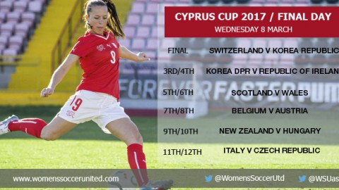 2017 Cyprus Cup / The Final and Placement Fixtures