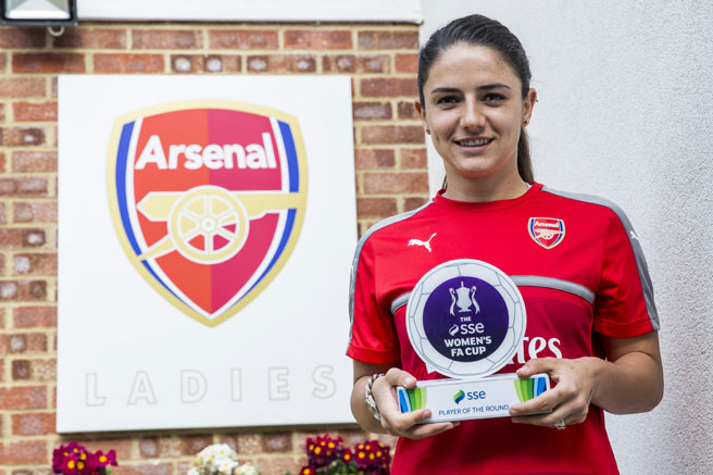 Danielle van de donk wins sse women s fa cup player of the fifth round