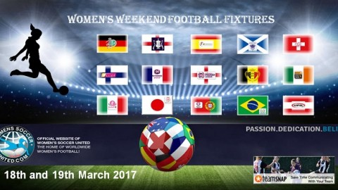 Women's Weekend Football Fixtures 1st and 2nd April 2017