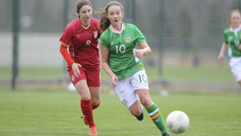 Alannah McEvoy nets in Ireland WU17s victory over Serbia