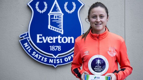 Everton defender Danielle Turner handed FA Cup Player of the Round award after heroics in goal