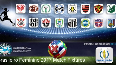 Brasileiro Feminino 2017 Match Day Two Results and Tables