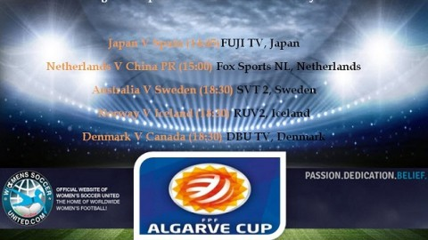 Algarve Cup 2017 Day one 1st March Today's Live Streams