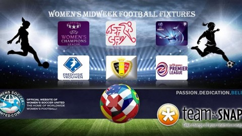 Women's Midweek Football Fixtures 20th to 24th March 2017