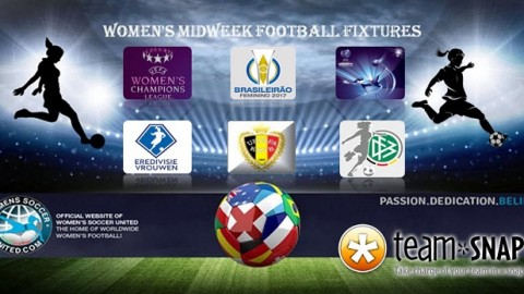 Women's Midweek Football Fixtures 27th to 31st March 2017