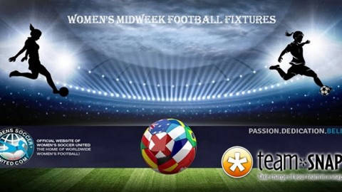 Women's Midweek Football Fixtures 13th to 17th March 2017