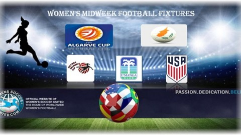 Women's Midweek Football Fixtures 6th March to 8th March 2017