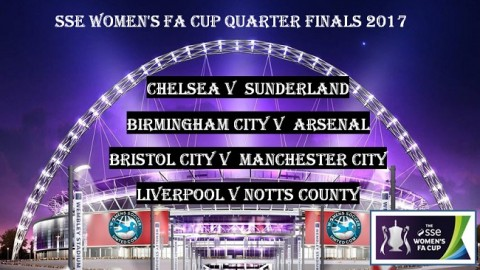 SSE Women's FA Cup 2017 Quarter Final Draw 20th March