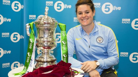 Result of the SSE Women's FA Cup Semi-final draw made by broadcaster Sam Walker on BBC Radio 5Live
