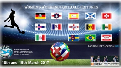 Women's Weekend Football Fixtures 18th and 19th March 2017