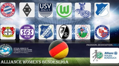 VFL Wolfsburg lead Frauen Bundesliga Sunday 2nd April 2017