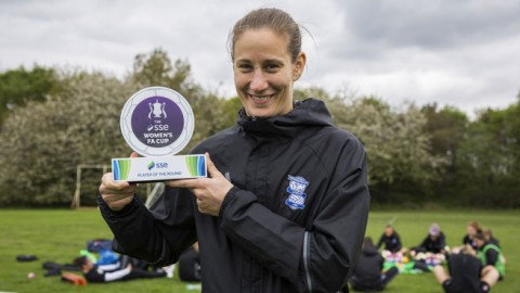 Birmingham City goalkeeper Ann-Katrin Berger wins SSE Women's FA Cup player of the round