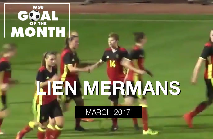 Lien Mermans wins WSU Goal of the Month - March 2017