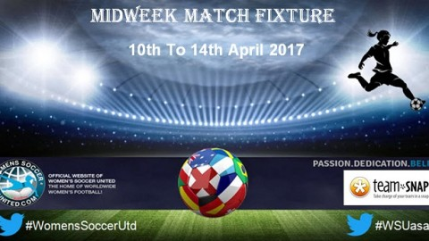 Women's Midweek Football Fixtures 10th to 14th April 2017