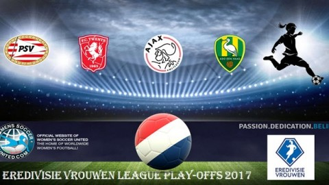 Match Results Championship play offs Vrouwen Eredivisie 22nd April 2017