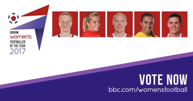 Vote now for the BBC Women's Footballer of the Year 2017