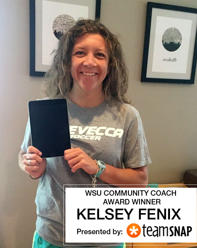 Kelsey Fenix wins WSU Community Coach Award (USA) Presented by TeamSnap