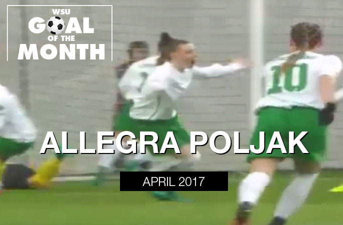 Allegra Poljak wins WSU Goal of the Month - April 2017