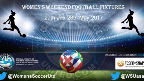 Women's Weekend Football Fixtures 27th and 28th May 2017