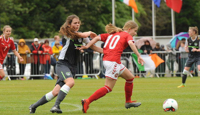 Republic of Ireland WU16s edged out by Denmark on penalties