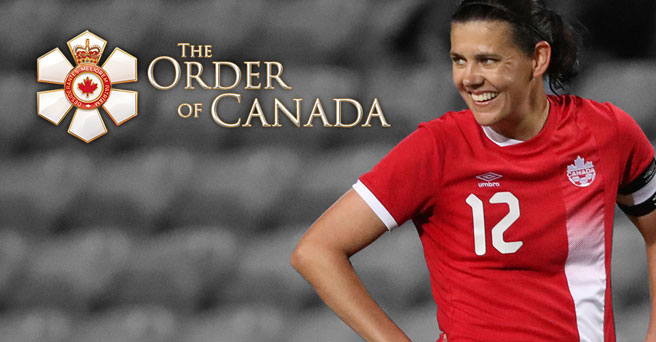 Christine Sinclair recognized with Order of Canada