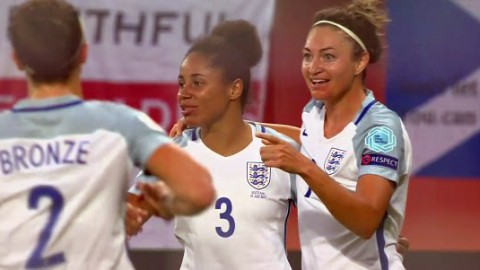 Jodie Taylor grabbed hat-trick as England destroyed Scotland in the 'Battle of Britain'