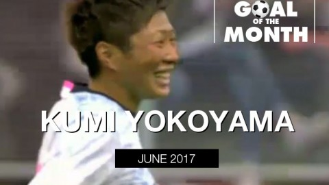 Kumi Yokoyama wins WSU Goal of the Month – June 2017