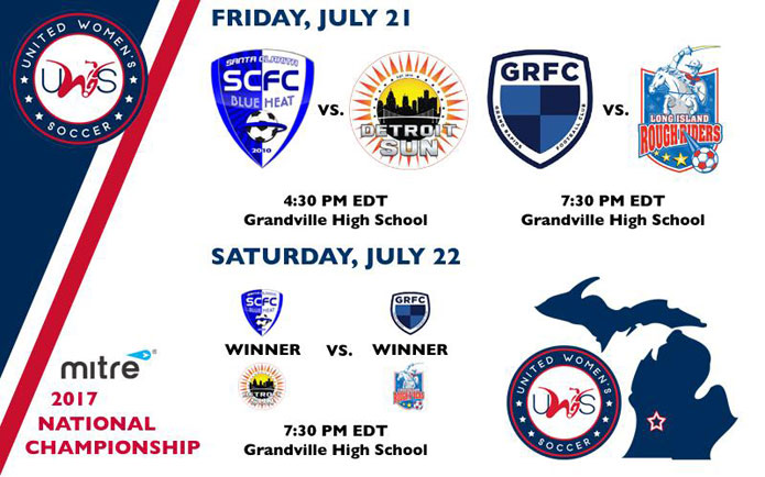 2017 UWS Championship: Friday's National Semifinal matchups have been confirmed