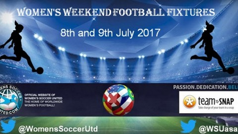 Women's Weekend Football Fixtures 8th and 9th July 2017