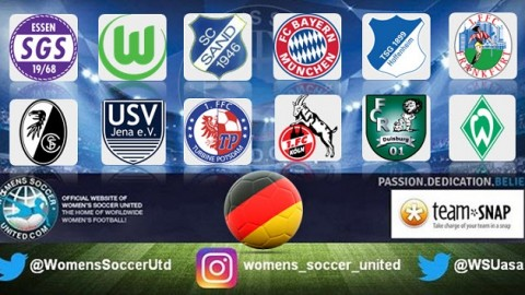 VfL Wolfsburg lead Alliance Women's Bundesliga 1st April 2018