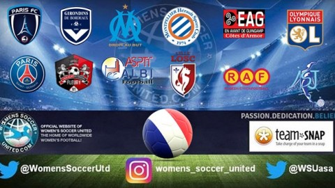 Olympique Lyon lead French Feminine Division 1 24th September