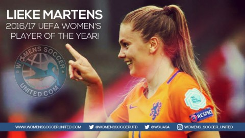 Lieke Martens wins 2016/17 UEFA Women's Player of the Year!