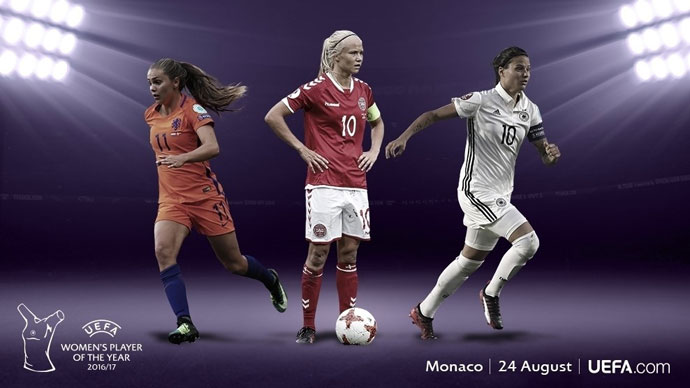 Pernille Harder, Dzsenifer Marozsán and Lieke Martens nominated for UEFA Women's Player of the Year Award