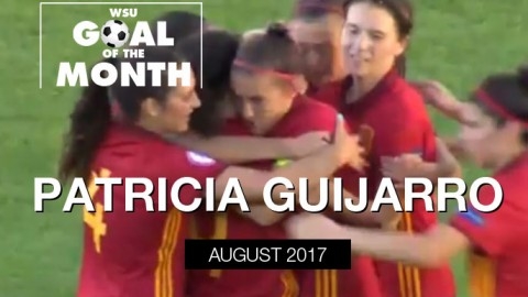 Patricia Guijarro wins WSU Goal of the Month – August 2017