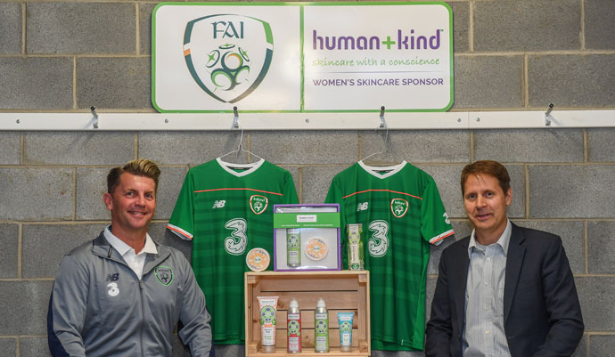 Ireland WNT: Human+Kind announced as new official skincare partner