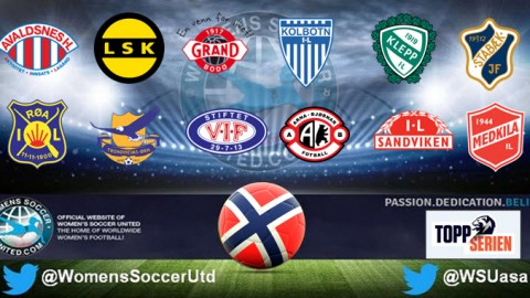 LSK Kvinner lead Norway's Toppserien League 10th September 2017