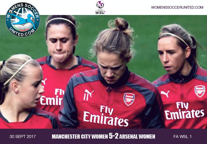 Arsenal Ladies fall to defeat at Manchester City