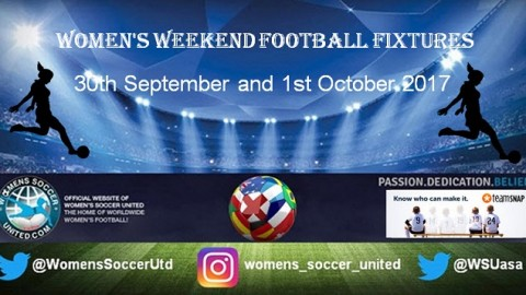 Women's Weekend Football Fixtures 30th September and 1st October 2017