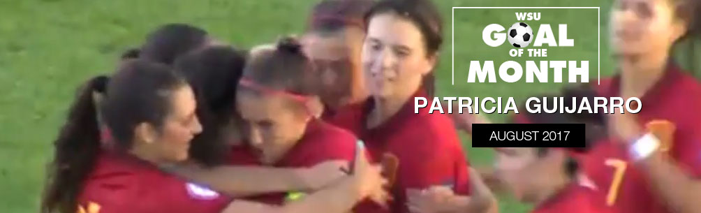 PATRICIA GUIJARRO WINS WSU GOAL OF THE MONTH - AUGUST 2017