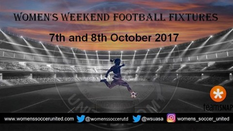 Women's Weekend Football Fixtures 7th and 8th October 2017