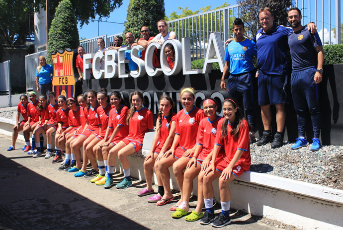 Puerto Rico U-17 WNT prepare for 2018 World Cup qualifiers at FCBEscola Dominican Republic facilities due to the destruction left by Hurricane Maria