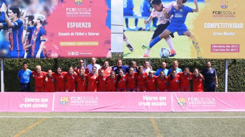 Puerto Rico U-17 WNT prepare for 2018 World Cup qualifiers at FCBEscola Dominican Republic facilities due to the destruction left by Hurricane María