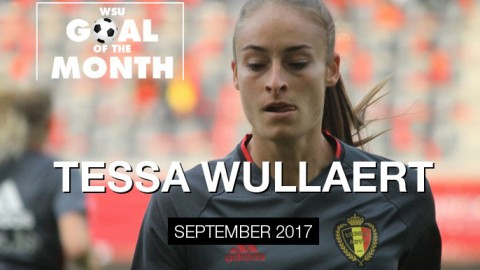 Tessa Wullaert wins WSU Goal of the Month – September 2017