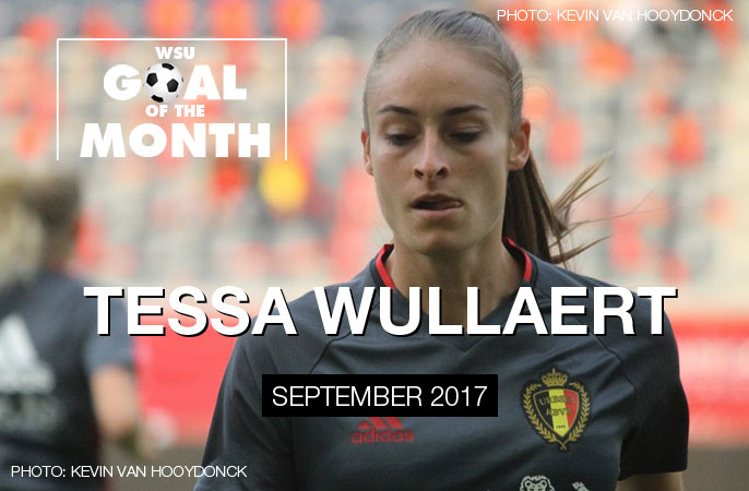 Tessa Wullaert wins WSU Goal of the Month - September 2017