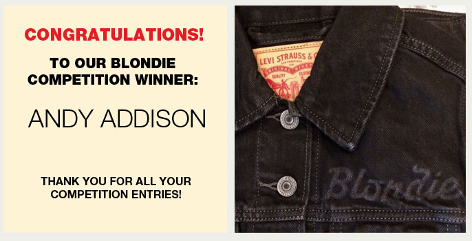 Congratulations to our winner, Andy Addison, who correctly answered - Who is the lead singer of Blondie? (A. Debbie Harry)