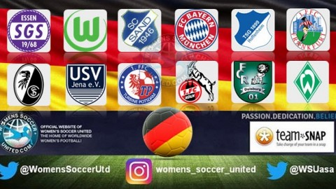 VFL Wolfsburg lead the Alliance Women's Bundesliga 1st October 2017