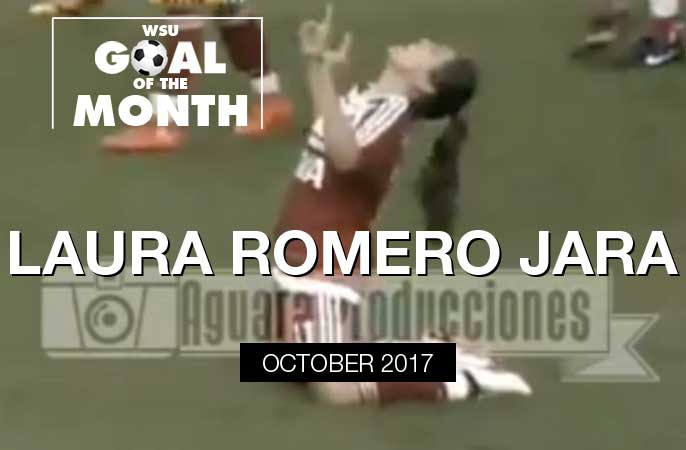 Laura Romero Jara wins WSU Goal of the Month - October 2017